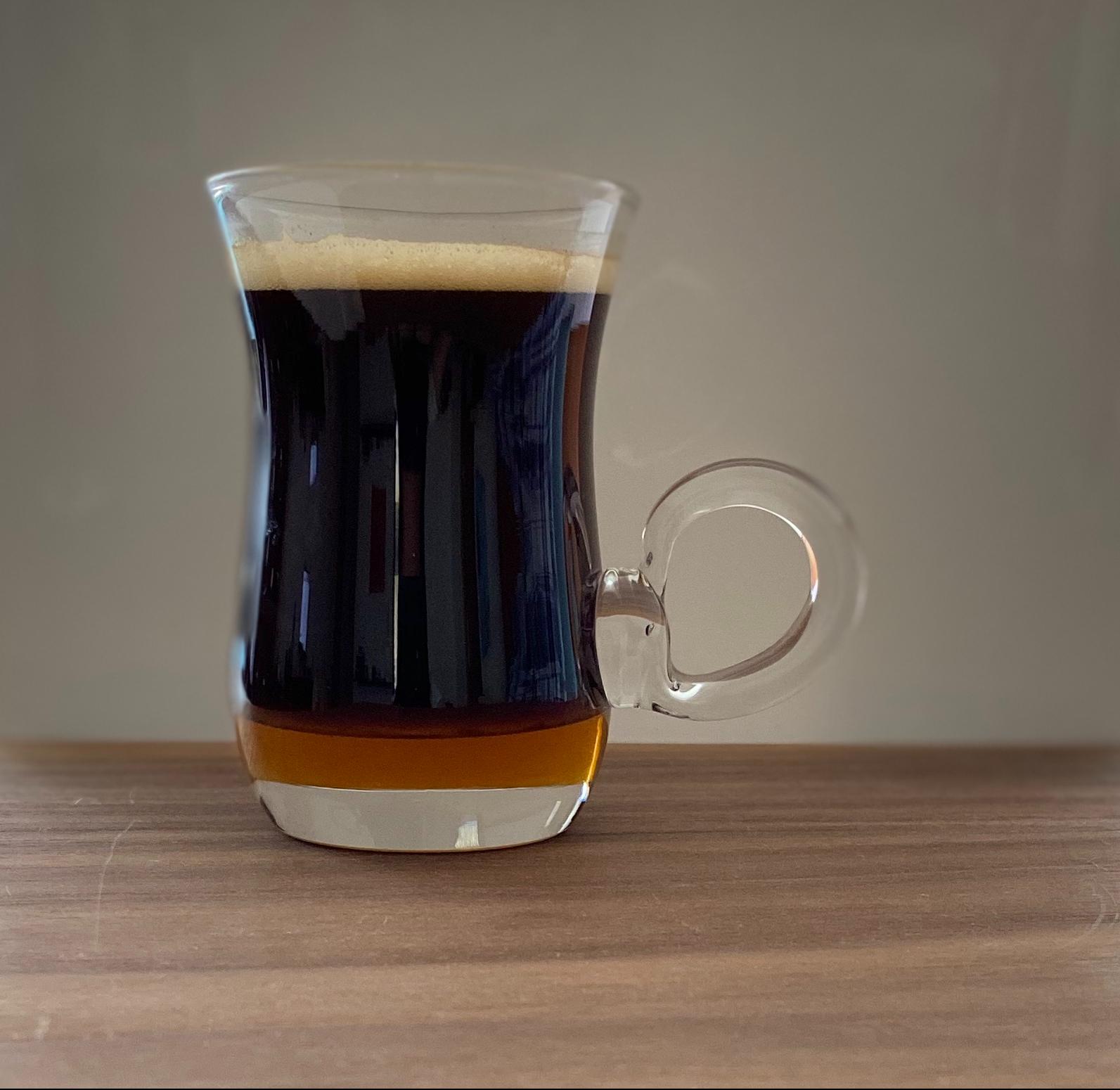 Espresso con miel de abeja